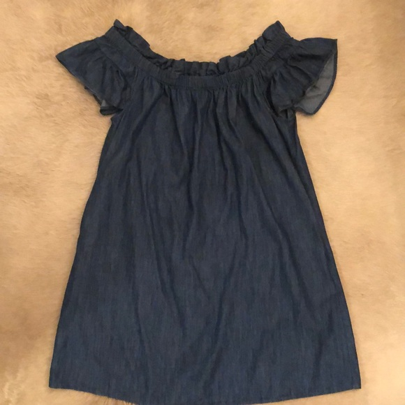 Anthropologie Dresses & Skirts - Anthropologie chambray off the shoulder dress
